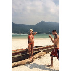 Photo taken at Malibu Beach Bungalows Koh Phangan by Masha S. on 1/17/2015