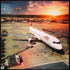 Photo taken at Zürich Airport (ZRH) by Pascal C. on 8/10/2013