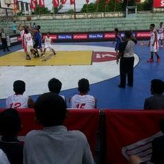 Photo taken at Gelora senapelan basket by Juvii M. on 1/15/2013