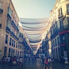 Photo taken at Calle Marqués de Larios by Federico on 7/5/2013