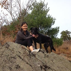 Photo taken at Hancock Hill (Blue Hills) by Mike P. on 10/27/2012