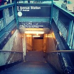 Photo taken at MTA Subway - 3rd Ave (L) by Aerik V. on 5/12/2013