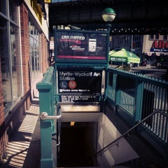 Photo taken at MTA Subway - Myrtle/Wyckoff Ave (L/M) by Aerik V. on 4/25/2013