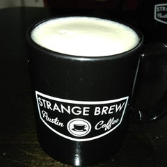 Photo taken at Strange Brew Austin Coffee by Sam M. on 1/8/2013