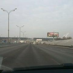 Photo taken at МКАД (Московская кольцевая автомобильная дорога) by Катя К. on 2/23/2013
