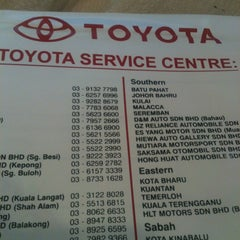 Photo taken at Toyota Service Center by 沛莉 郑. on 2/25/2013