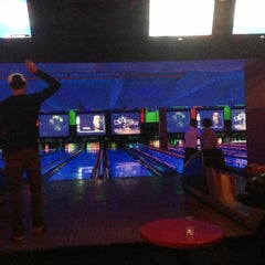 Photo taken at Bowlmor Lanes Union Square by JO S. on 2/15/2013