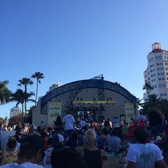 Photo taken at Tire Kingdom Stage @ Sunfest by Ryan M. on 5/4/2014