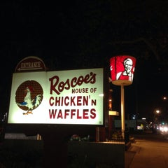 Photo taken at Roscoe's House of Chicken and Waffles by April on 3/17/2014