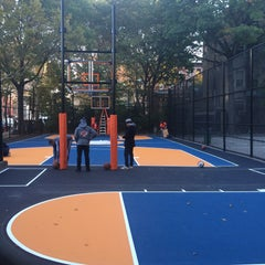 Photo taken at West 4th Street Courts (The Cage) by Andrea M. on 10/20/2015