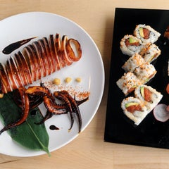 Photo taken at Komé by Austin Chronicle on 1/17/2013