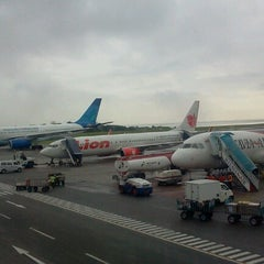 Photo taken at Sultan Aji Muhammad Sulaiman Sepinggan Balikpapan International Airport (BPN) by jimmy w. on 11/24/2012
