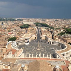 Photo taken at Piazza San Pietro by Arthur V. on 7/21/2013