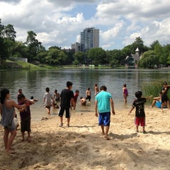 Photo taken at Central Park - Harlem Meer by George W. on 7/4/2013