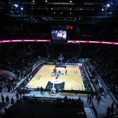 Photo taken at Žalgirio Arena | Zalgiris Arena by Çisem B. on 3/21/2013