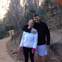 Photo taken at Emerald Pool Trail by Stacey Y. on 12/1/2013