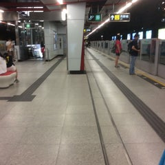 Photo taken at MTR Kowloon Bay Station 九龍灣站 by Vincent L. on 10/21/2015