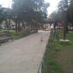 Photo taken at Plaza de Armas Alhué by Jaime A. on 8/11/2013