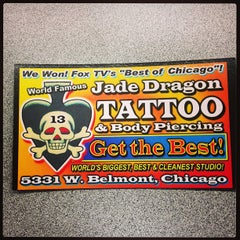 Photo taken at Jade Dragon Tattoo and Exotic Body Piercing Studio by Josh G. on 2/1/2013