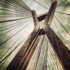 Photo taken at Ponte Octávio Frias de Oliveira (Ponte Estaiada) by Felipe S. on 5/19/2013