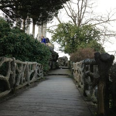 Photo taken at Parc des Buttes-Chaumont by Sarah B. on 2/15/2013