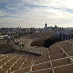 Photo taken at Metropol Parasol by Paulina L. on 12/23/2012