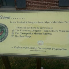 Photo taken at Frederick Douglass-Isaac Myers Maritime Park by Darrick on 11/20/2012