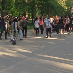 Photo taken at Central Park Dance Skaters Association (CPDSA) — Free Roller Skating Rink by Garrett J. on 5/25/2014