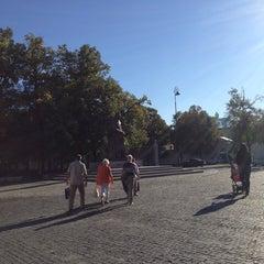 Photo taken at Pomnik Marszałka Piłsudskiego / Piłsudski Monument by Dominik R. on 9/7/2013