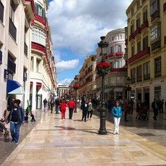 Photo taken at Calle Marqués de Larios by Kata E. on 4/2/2013