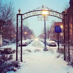 Photo taken at Ledroit Park Gate by Danielle R. on 1/21/2014