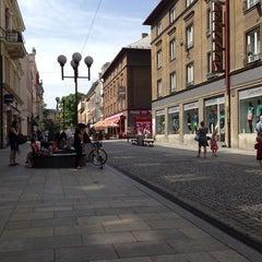 Photo taken at Ostrožná | Pěší zóna by Přemysl B. on 5/24/2014