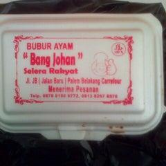 Photo taken at Bubur Ayam Bang Johan by Fitri W. on 2/8/2013