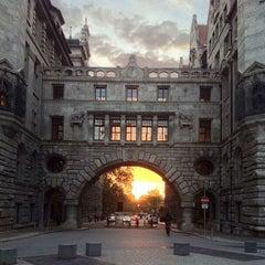 Photo taken at Burgplatz by Peter C. on 10/22/2013