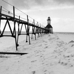 Photo taken at St. Joseph North Pier (at Tiscornia Park) by Terry S. on 2/17/2014