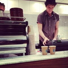 Photo taken at Blue Bottle Coffee by Matt D. on 12/11/2012