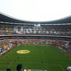 Photo taken at Estadio Azteca by Dan M. on 5/4/2013
