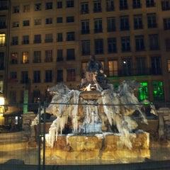 Photo taken at Place des Terreaux by Natalia D. on 2/25/2013