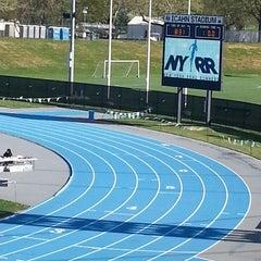 Photo taken at Icahn Stadium by Ali Byrd on 5/5/2013