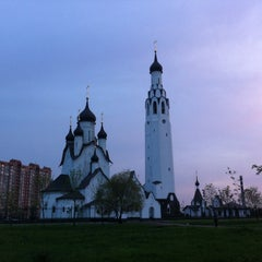 Photo taken at Парк Строителей by Alisha on 5/18/2013
