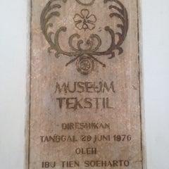 Photo taken at Museum Tekstil by a iskandar z. on 12/28/2013