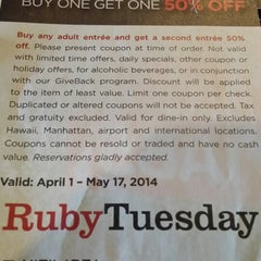 Photo taken at Ruby Tuesday by Fred G. on 5/15/2014