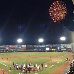 Photo taken at Estadio de Beisbol Eduardo Vasconcelos by Randy S. on 5/13/2013