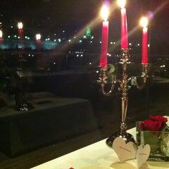 Photo taken at Roof Garden Restaurant by Maddalena G. on 2/14/2013