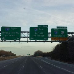 Photo taken at I-295 Exit 28/I-64 by Trucker4Harvick . on 1/26/2014