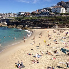Photo taken at Tamarama Beach by My Hunter Gatherer on 4/28/2013