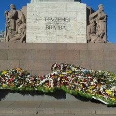 Photo taken at Brīvības piemineklis by Kristiāna L. on 5/5/2013