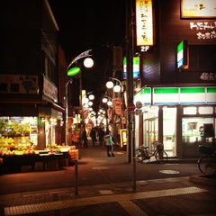 Photo taken at 西小山商店街 by Hide K. on 3/28/2012