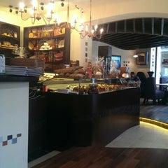 Photo taken at Grand Café Galleron by Dan M. on 12/19/2013