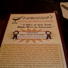 Photo taken at Francescos by Annie C. on 7/13/2013